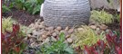 Garden Water Features: Silver Granite Sphere