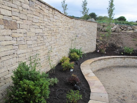 Natural stone landscaping in Sandyford