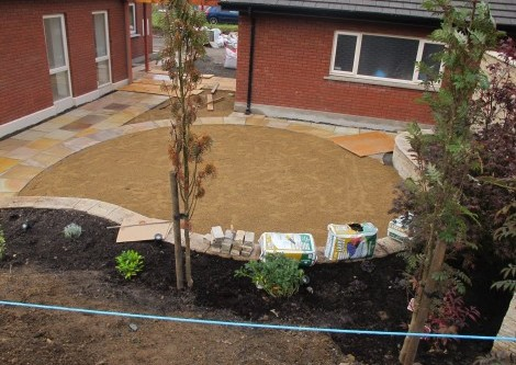 Landscaping on a sloping site