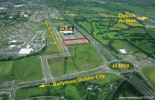 Land beside IKEA could fetch up to €3 million