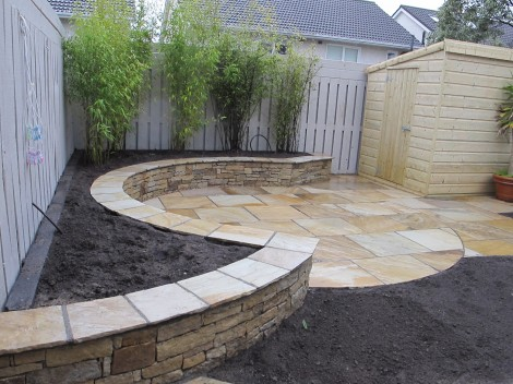 Family garden landscaping in Leopardstown