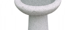 Granite bird bath on a pedestal