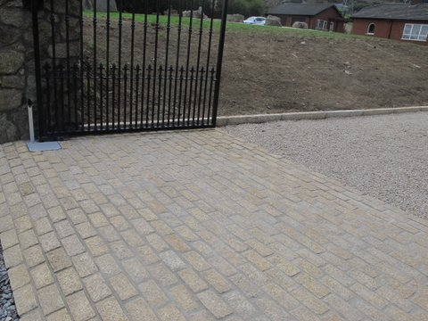 Driveway design and landscaping