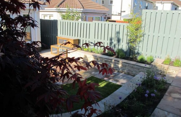 Small family garden design and landscaping in Knocklyon