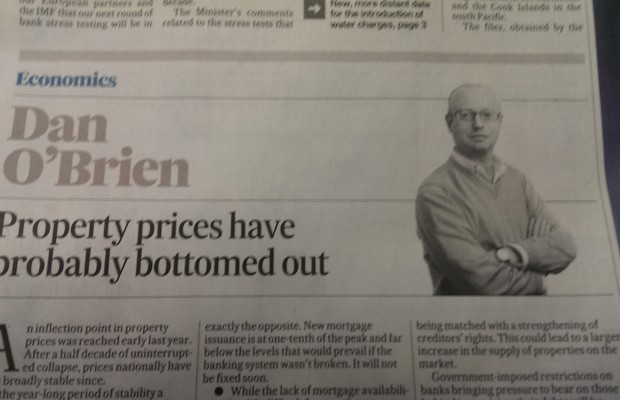 """O'Brien predicts """"property prices have probably bottomed out"""""""