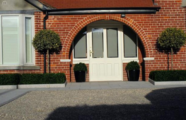 Granite driveway design and landscaping in Terenure