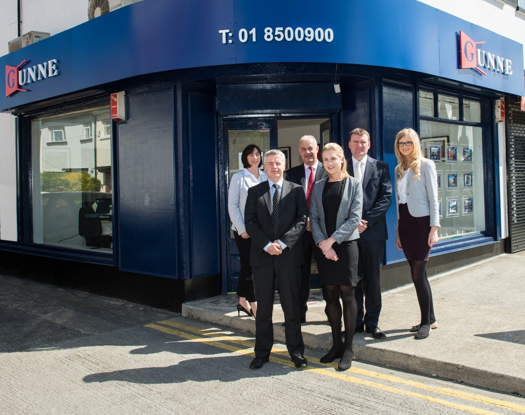 Pictured at the new Gunne Residential office in Glasnevin were, from L-R: Marian McQuillan (Director), Frank Fleming (Branch Manager-Glasnevin), Declan Cassidy (Managing Director), Sarah Delany (Branch Support-Glasnevin), Peter Fahy (Director), Emma Brassington (Marketing Department)