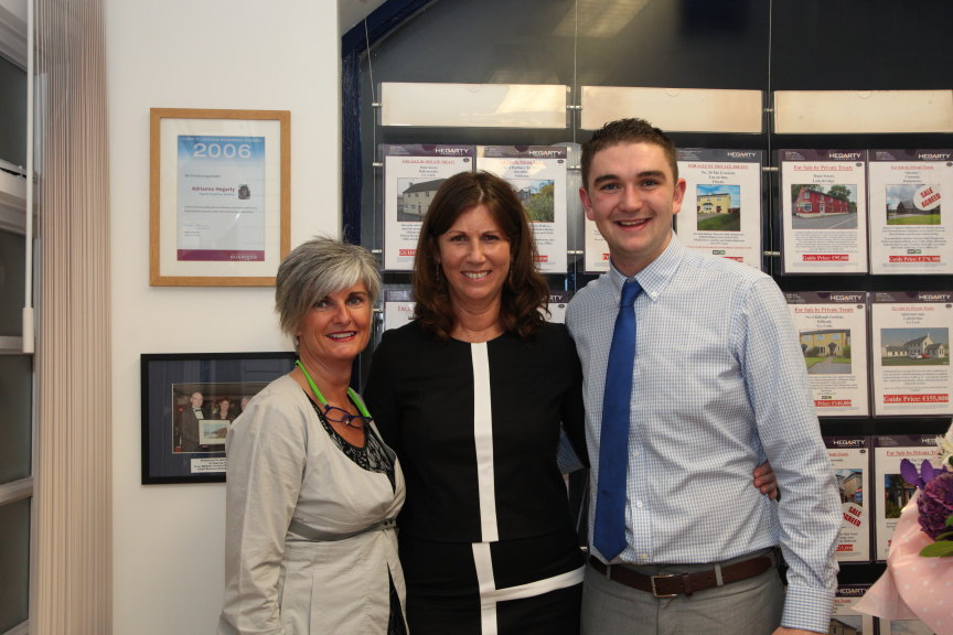 Anne O'Connell, Adrianna Hegarty & Kyle Kennedy of Hegarty Properties